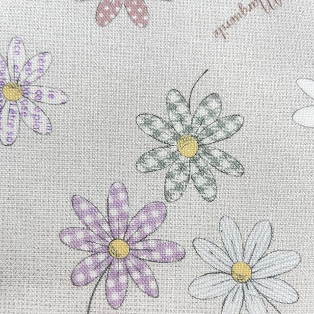 textile pantry JUNKO MATSUDA パターンマーガレット シーチング生地 アイボリー