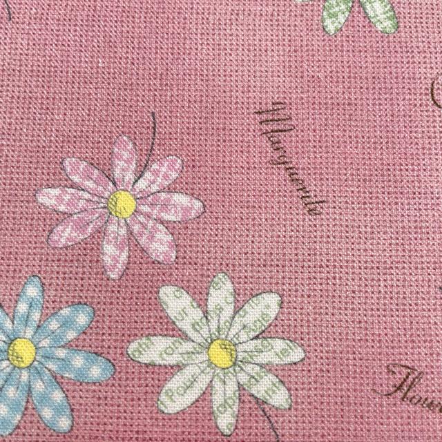 textile pantry JUNKO MATSUDA パターンマーガレット シーチング生地 ピンク