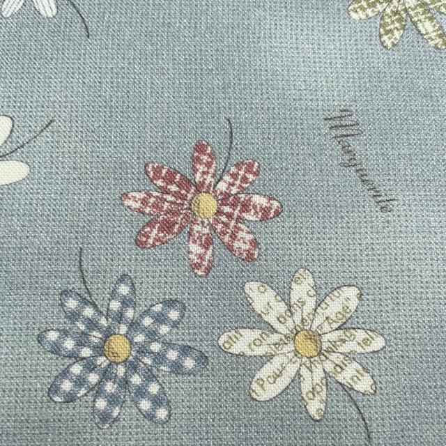 textile pantry JUNKO MATSUDA パターンマーガレット シーチング生地 ブルー