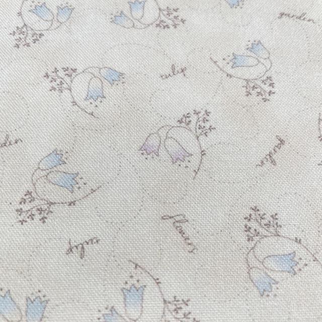 textile pantry JUNKO MATSUDA チューリップ シーチング生地 アイボリー