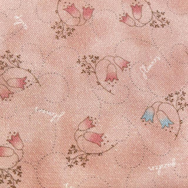 textile pantry JUNKO MATSUDA チューリップ シーチング生地 ピンク