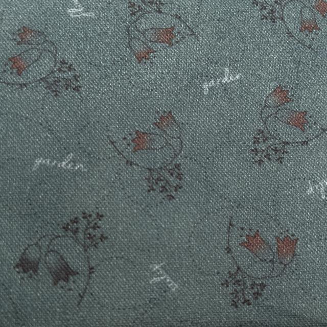 textile pantry JUNKO MATSUDA チューリップ シーチング生地 ブルーグレー