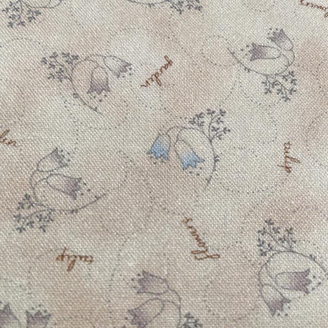 textile pantry JUNKO MATSUDA チューリップ シーチング生地 ベージュ