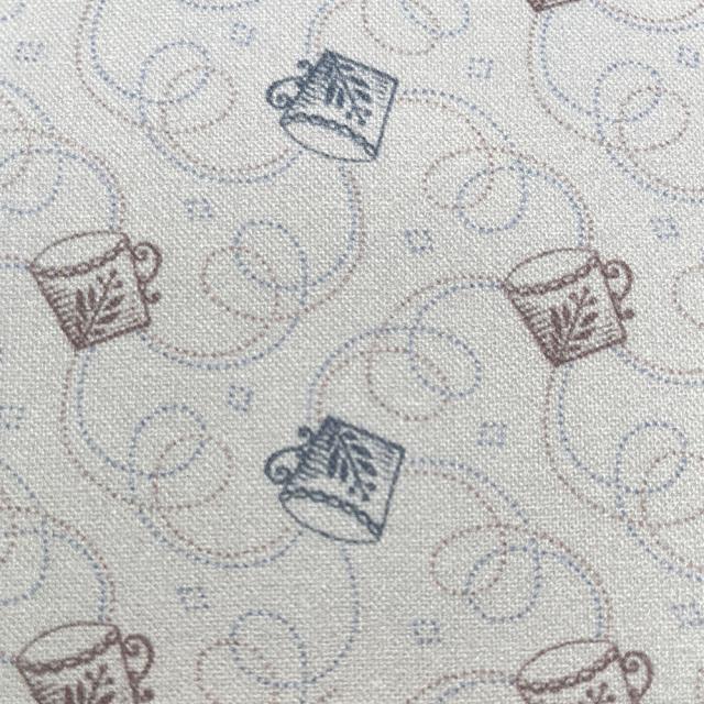 textile pantry JUNKO MATSUDA コーヒーカップ シーチング生地 ライトグレー