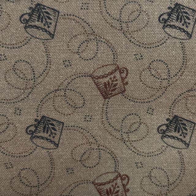 textile pantry JUNKO MATSUDA コーヒーカップ シーチング生地 ブラウン