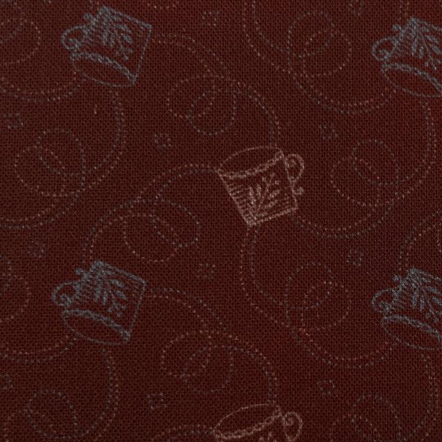 textile pantry JUNKO MATSUDA コーヒーカップ シーチング生地 バーガンディ