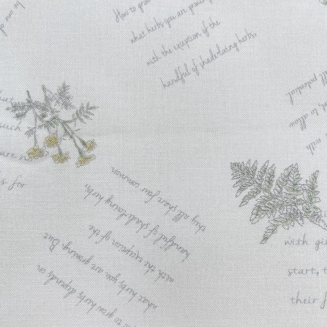 textile pantry JUNKO MATSUDA herb シーチング生地 アイボリー