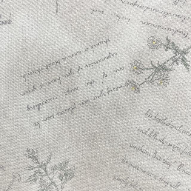 textile pantry JUNKO MATSUDA herb シーチング生地 ベージュ