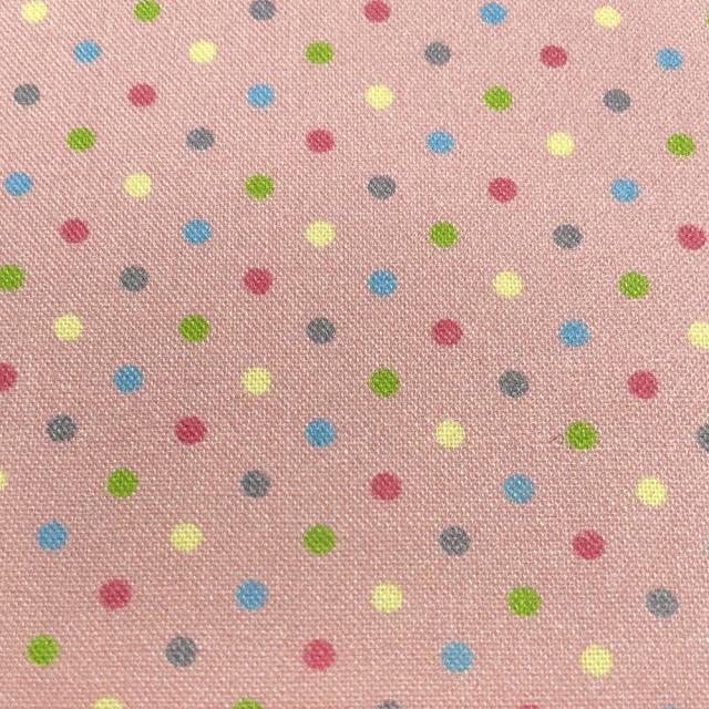textile pantry JUNKO MATSUDA カラフルドット シーチング生地 ピンク