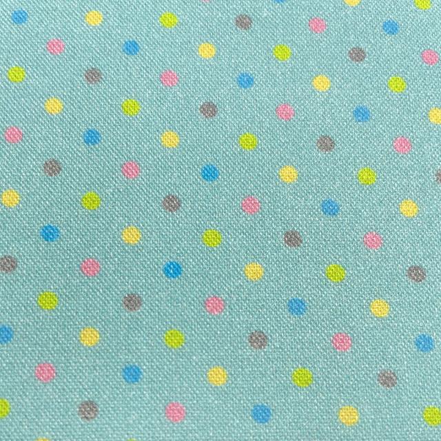 textile pantry JUNKO MATSUDA カラフルドット シーチング生地 ミントブルー