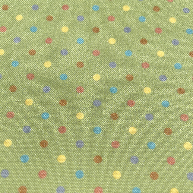 textile pantry JUNKO MATSUDA カラフルドット シーチング生地 グリーン