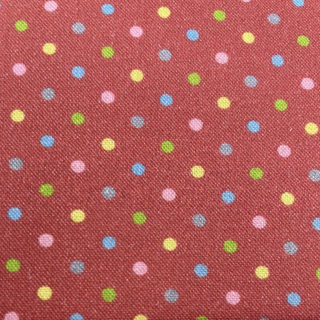 textile pantry JUNKO MATSUDA カラフルドット シーチング生地 レッド