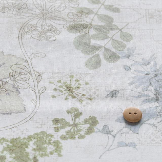 textile pantry JUNKO MATSUDA collage plants シーチング生地