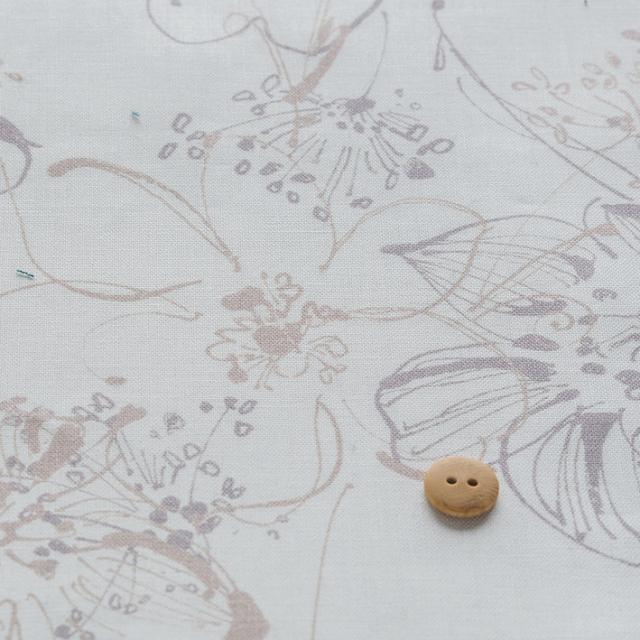 textile pantry JUNKO MATSUDA hand drawn flowers シーチング生地