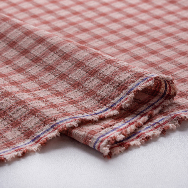 textile pantry JUNKO MATSUDA stitch country check ピンク