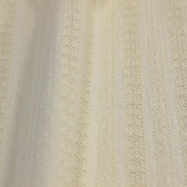 textile pantry JUNKO MATSUDA からみ織 天日干し仕上げレーステイスト生地 生成り
