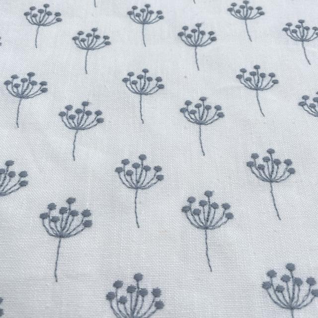 textile pantry JUNKO MATSUDA 刺繍リネンキャンバス