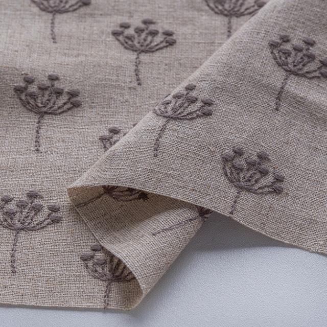 textile pantry JUNKO MATSUDA 刺繍リネンキャンバス 生成