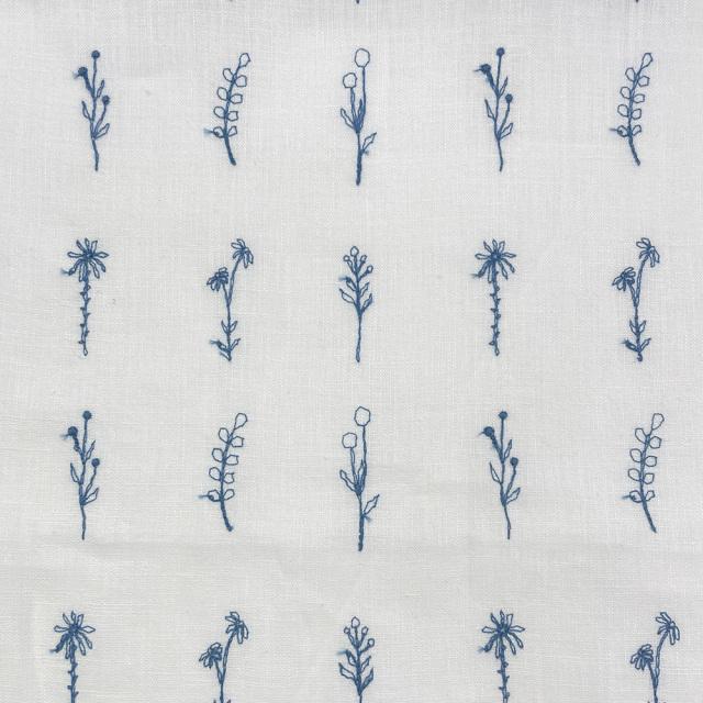 textile pantry JUNKO MATSUDA 刺繍リネンシーチング