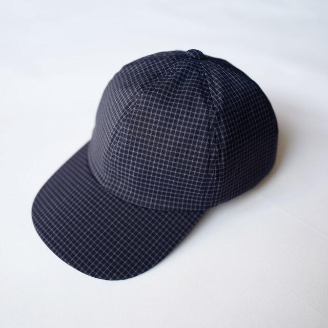 COMESANDGOES CHECK CAP NAVY CHECK