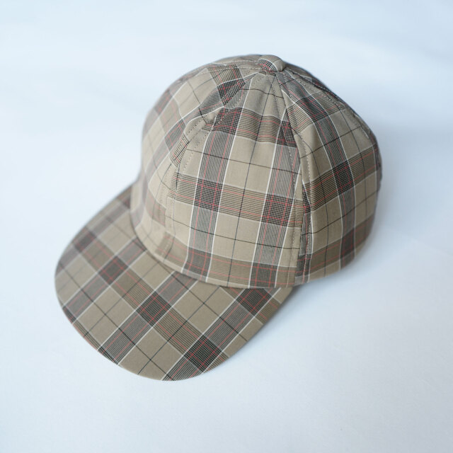 COMESANDGOES CHECK CAP BEIGE CHECK