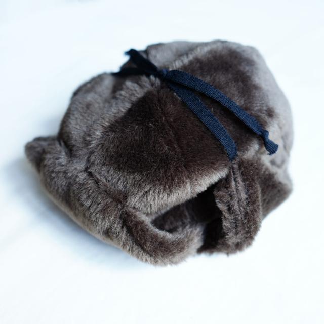 COMESANDGOES FUR EAR CAP BROWN
