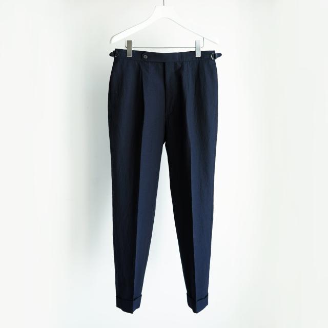 KAPTAIN SUNSHINE One-pleats Trousers NAVY