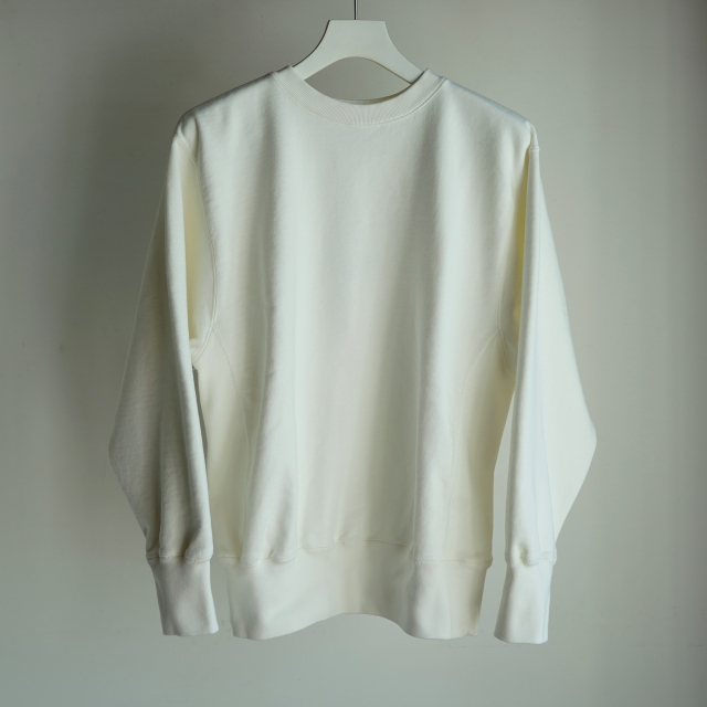 CIOTA スビンコットン 吊り裏毛 クルーネック スウェットシャツ OFF WHITE