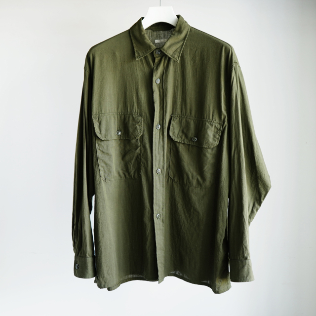COMOLI ベタシャン CPOシャツ OLIVE