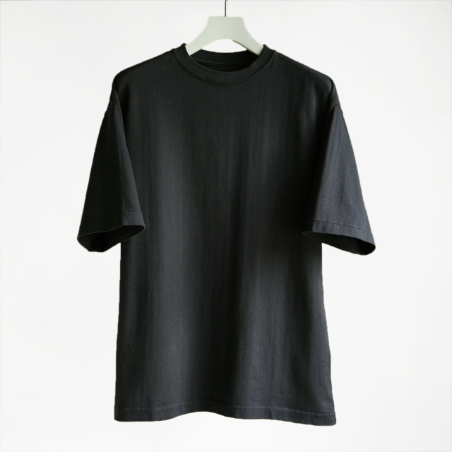 CIOTA for TF スビンコットン 30/2 吊り天竺 半袖 Tee BLACK