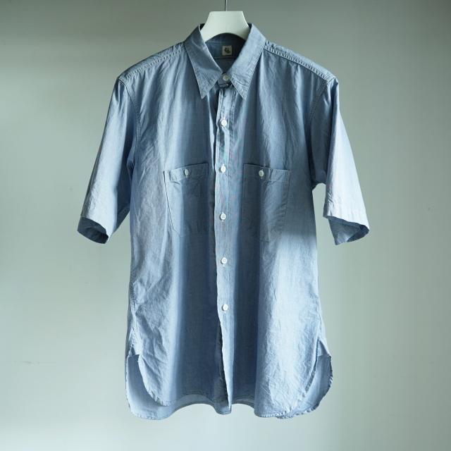 KAPTAIN SUNSHINE Work Shirt S/S INDIGO CHAMBRAY
