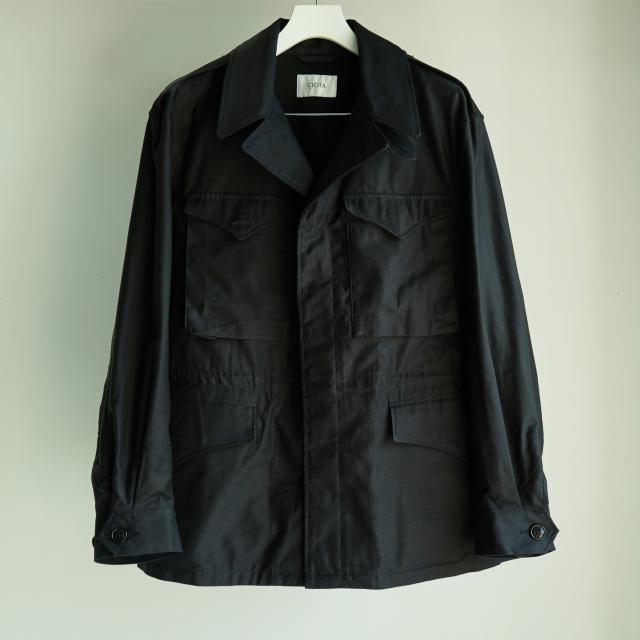 CIOTA ムラバックサテン M43 フィールドジャケット BLACK