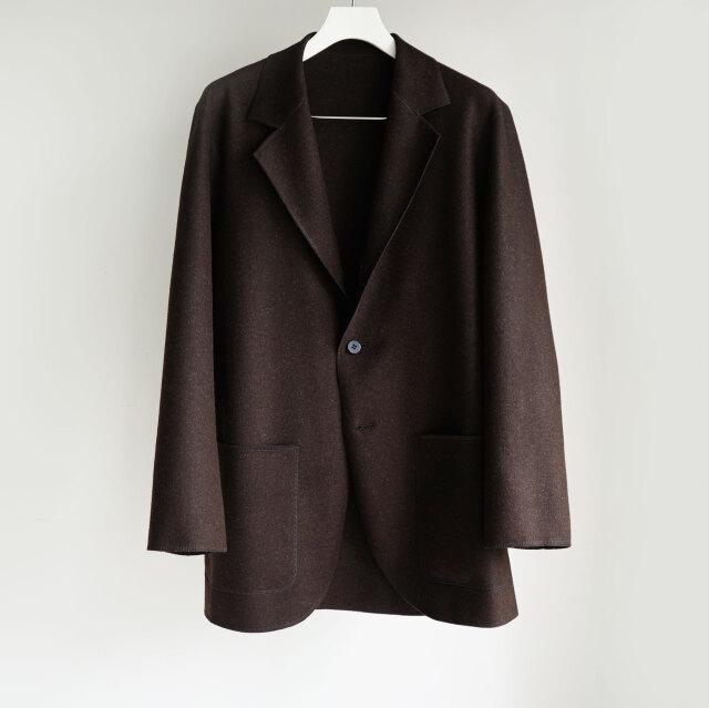 Cale natural wool felt jacket BROWN