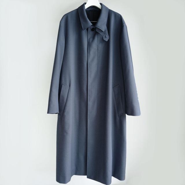 Cale 三子シャンブレー バルカラーコート NAVY BLUE