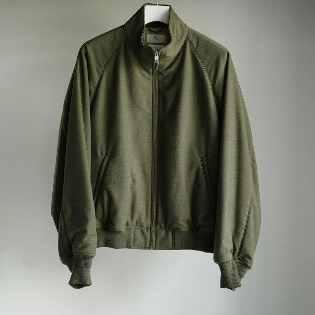 HERILL Cashmerebacksatin Weekend Jacket Olive Drab