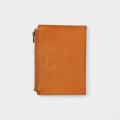 TF パスポートサイズ レザージッパーケース ブラウン (07100628)