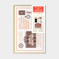 TF 活版カード Travel Tools 切手付 茶 (07151266)