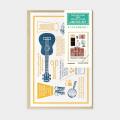 TF 活版カード Travel Tools 切手付 青 (07151267)