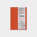 トラベラーズノート パスポートサイズ リフィル 2018 月間 (14387006)