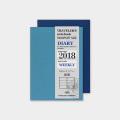 トラベラーズノート パスポートサイズ リフィル 2018 週間 (14388006)