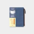トラベラーズノート パスポートサイズ コットンジッパー ブルー(14442006)