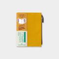 トラベラーズノート パスポートサイズ コットンジッパー マスタード(14443006)