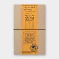 トラベラーズノート 2018 週間バーチカル 茶 (27647006)