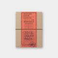 トラベラーズノート パスポートサイズ 2018 月間 茶 (27650006)