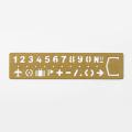 ブラス テンプレート ブックマーク <ナンバー> (42168006)