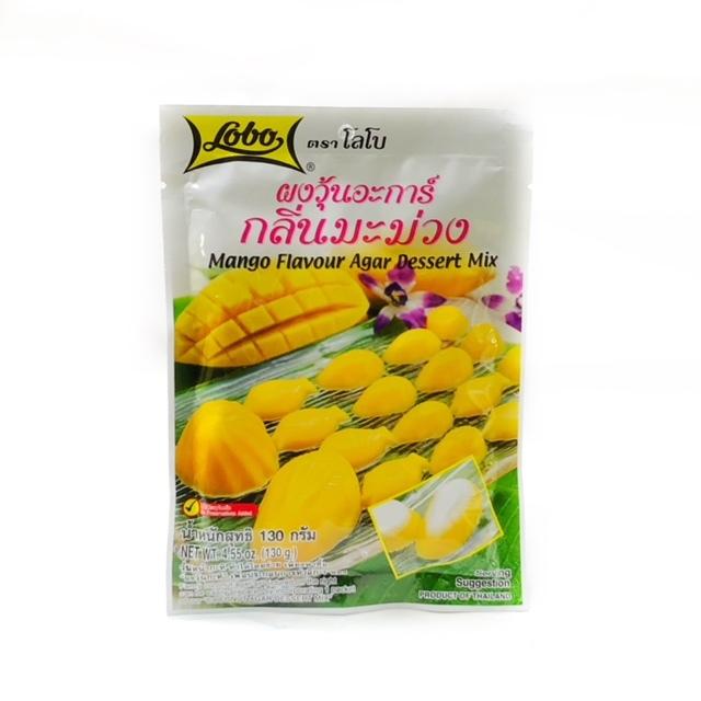 タイ風寒天の素 マンゴー味 LOBO 130g (Mango Flavour Agar Dessert Mix)