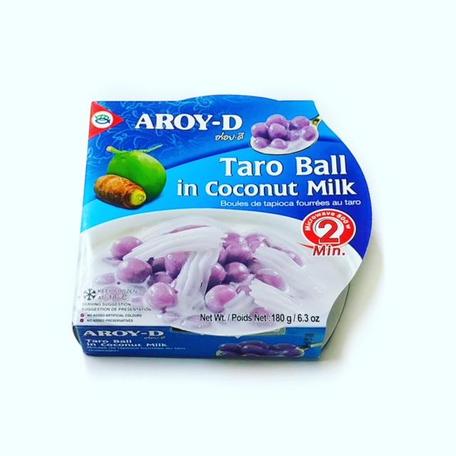 ココナッツミルク入タロイモのデザート(ブアローイ) 【冷凍】