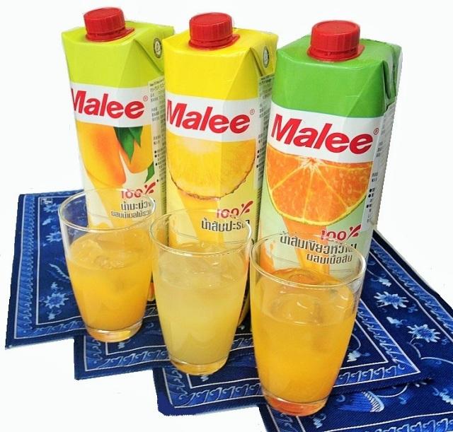 Malee 100%OrangeYellowセット(3種6本)