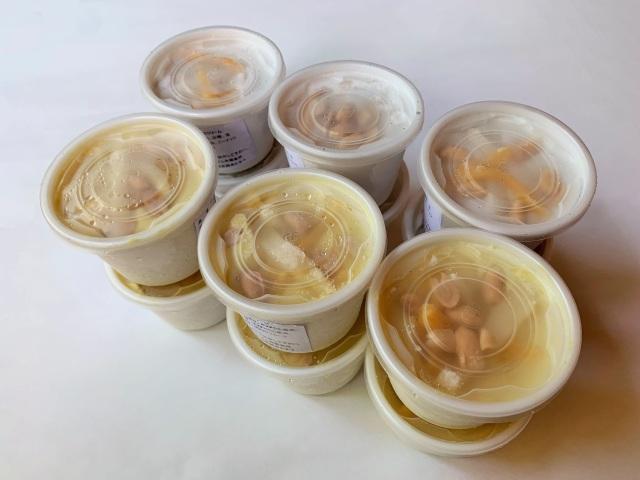 ドリアンアイスとココナッツアイスのセット