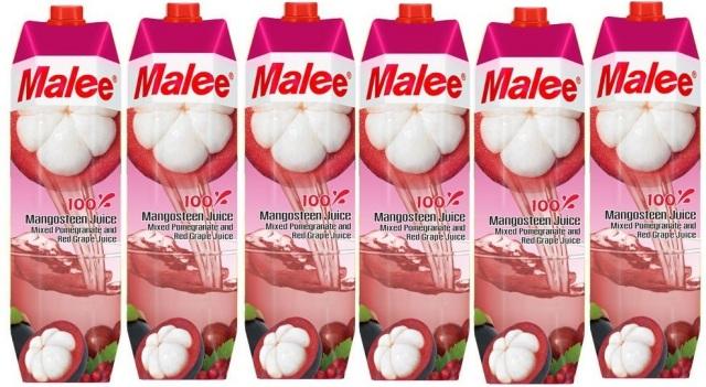 【送料込み】Malee 100%マンゴスチンジュース6本
